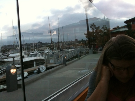 Anniversary dinner on the harbor