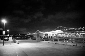 Behind the Ferry Building, Bay Bridge