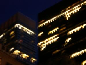Blurry buildings