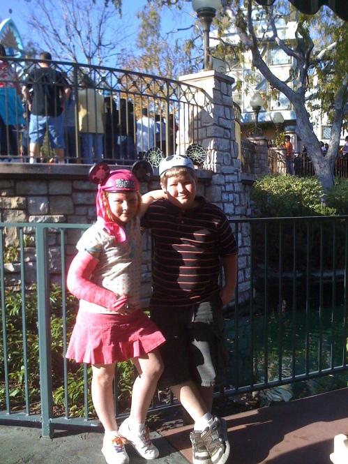 Kids at Disneyland