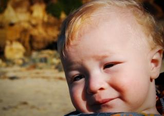 Koen at the beach