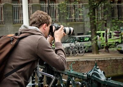 Lenny taking a photo