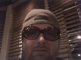 Me wearing Kristi's Sunglasses
