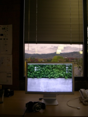 My workspace, Fall 2006