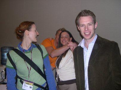 Vera, Jaxon, Eris and Dunstan after our panel
