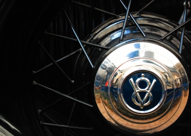 Wheel of the V8 Ford Phaeton