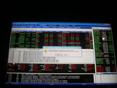 Windows error, Thomson Financial building