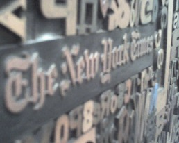 Woodcut Type Art Piece, NY Times building-1