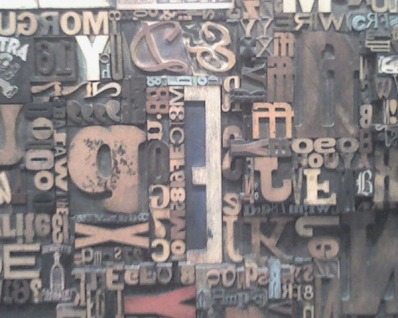 Woodcut Type Art Piece, NY Times building-2