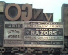 Woodcut Type Art Piece, NY Times building