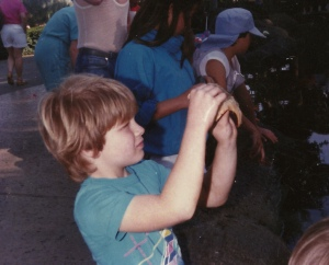 Me at Sea World before we knew it was evil